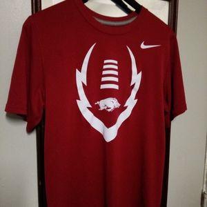 Nike dri fit Arkansas Razorbacks T-shirt size smal
